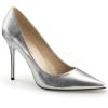 CLASSIQUE-20 Silver Faux Leather